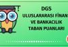 DGS Uluslararası Finans ve Bankacılık Taban Puanları