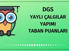 DGS Yaylı Çalgılar Yapımı Taban Puanları 2020