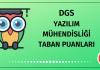 DGS Yazılım Mühendisliği Taban Puanları