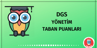 DGS Yönetim Taban Puanları 2020