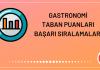 Gastronomi Taban Puanları 2020