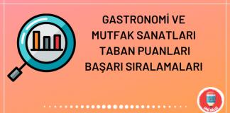 Gastronomi ve Mutfak Sanatları Taban Puanları 2020