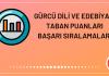 Gürcü Dili ve Edebiyatı Taban Puanları