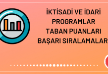İktisadi ve İdari Programlar Taban Puanları 2020