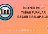 İslami İlimler Taban Puanları