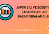 Japon Dili ve Edebiyatı Taban Puanları