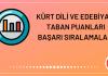 Kürt Dili ve Edebiyatı Taban Puanları 2020