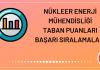 Nükleer Enerji Mühendisliği Taban Puanları