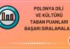 Polonya Dili ve Kültürü Taban Puanları 2020