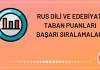 Rus Dili ve Edebiyatı Taban Puanları