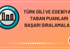 Türk Dili ve Edebiyatı Taban Puanları