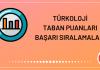Türkoloji Taban Puanları