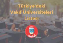 Türkiye'deki vakıf üniversiteleri listesi