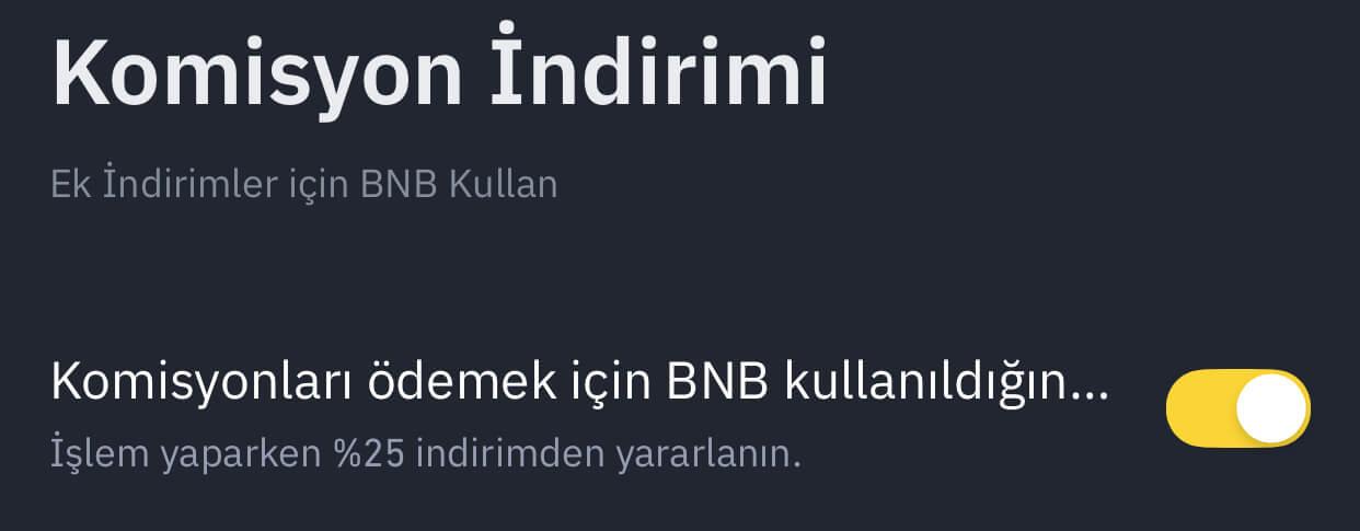 bnb ek komisyon indirimi