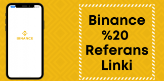 Binance %20 referans linki ile kayıt ol